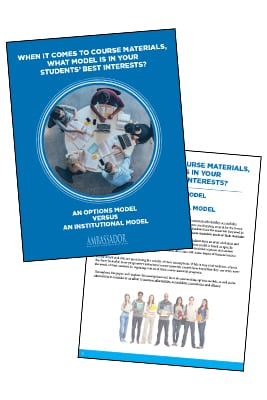White Paper: When it Comes to Course Materials, What Model is in Your Students' Best Interests