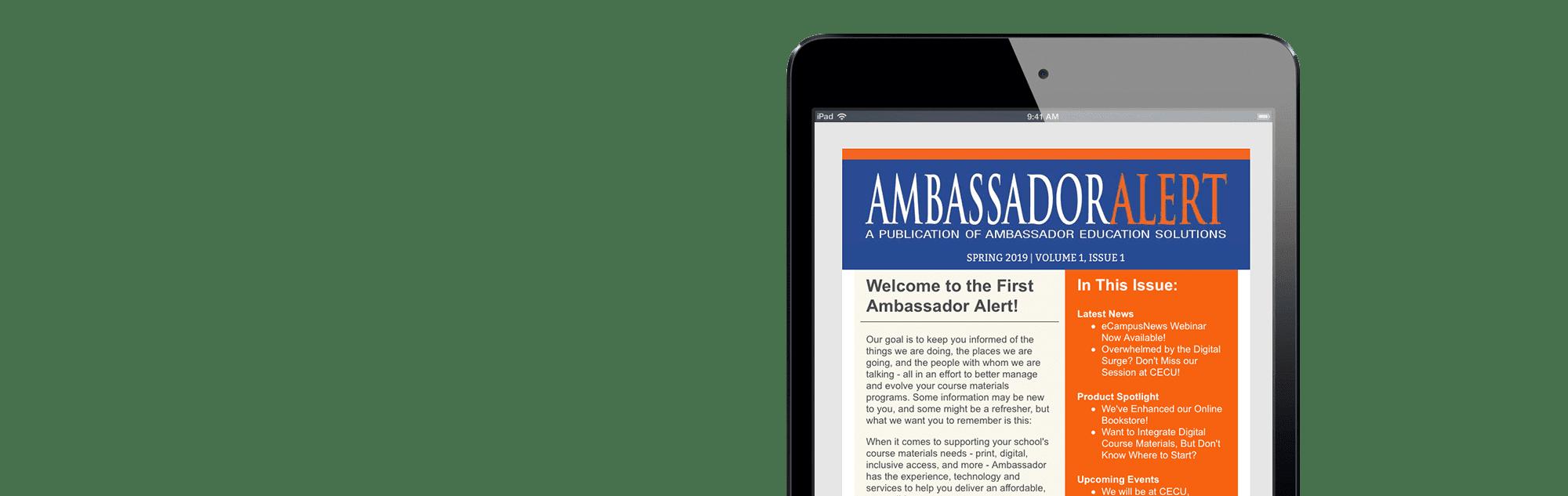 Ambassador Alert Slide